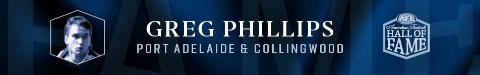 2020 Australian Football Hall of Fame Inductee Greg Phillips