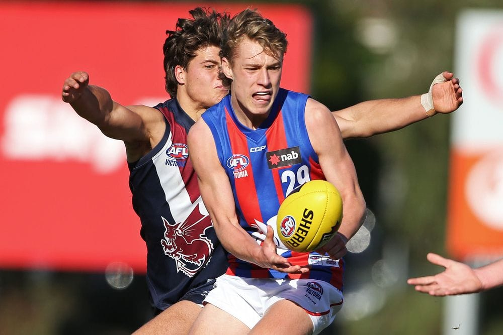 Finlay Macrae, younger brother of the Bulldogs' Jack, looks a possible early draft choice this year. Picture: AFL Photos