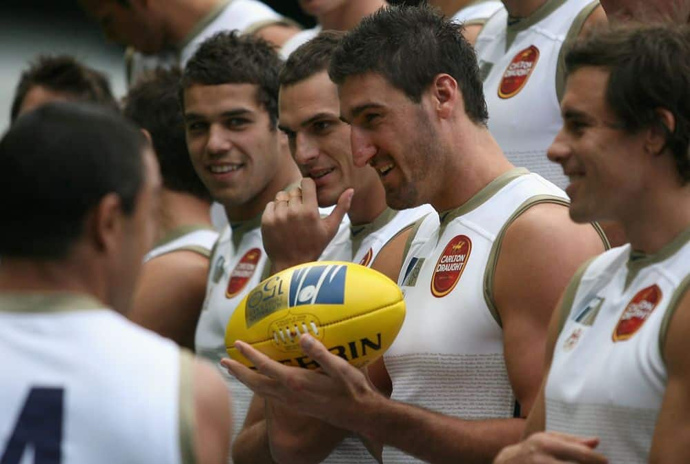 Lance Franklin joins Jamie Charman, Dean Cox and Matthew Richardson in the 2008 Dream Team