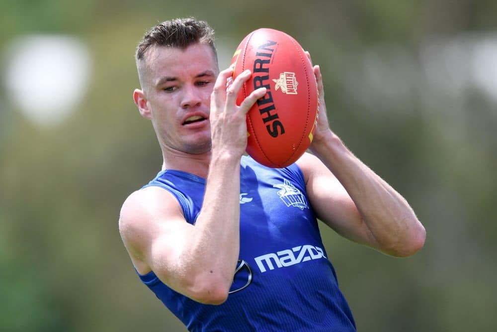 Kayne Turner at training in February. Picture: AFL Photos
