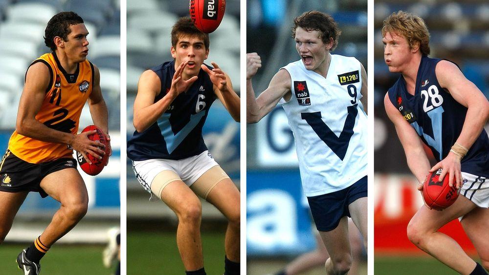Harley Bennell, Andrew Gaff, Adam Treloar and Josh Caddy all made the 2010 U18 AA team