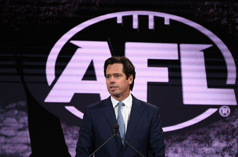 AFL chief Gillon McLachlan during the 2020 AFL Season Launch. Picture: Getty Images