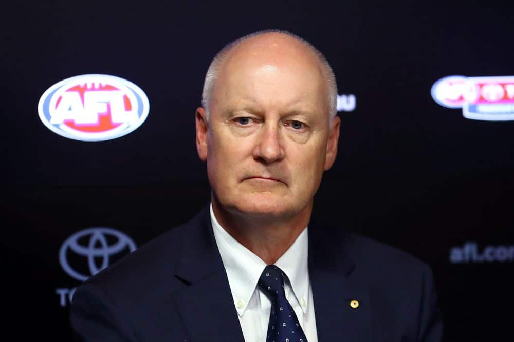 AFL chairman Richard Goyder in March, 2020. Picture: Getty Images