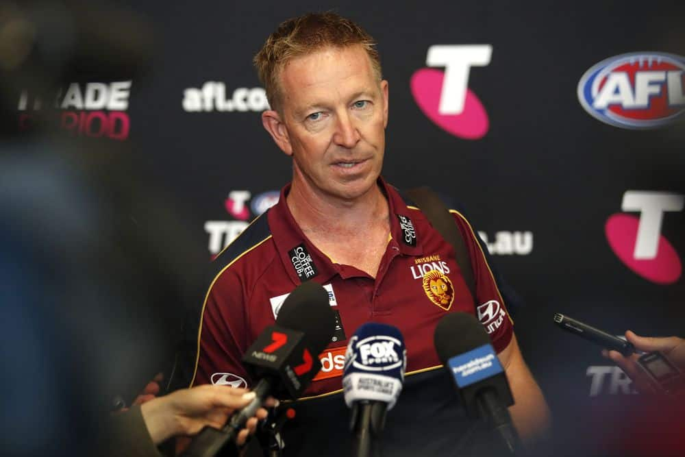 Brisbane football boss David Noble during the 2019 Telstra AFL Trade Period. Picture: AFL Photos