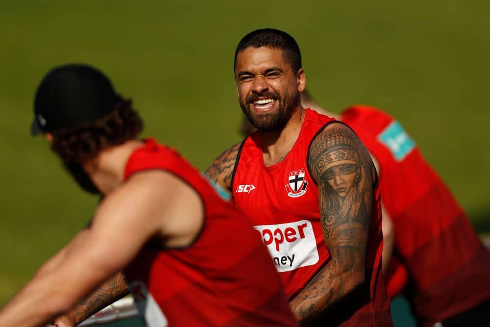 Bradley Hill at training in May. Picture: Getty Images
