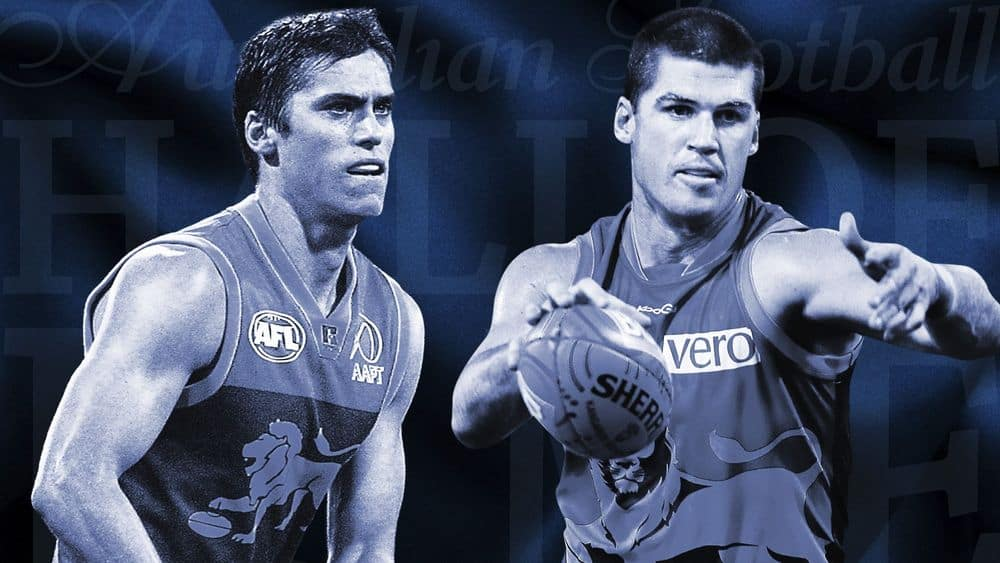 Former Brisbane champions Simon Black and Jon Brown have been inducted into the Hall of Fame. Picture: AFL Media