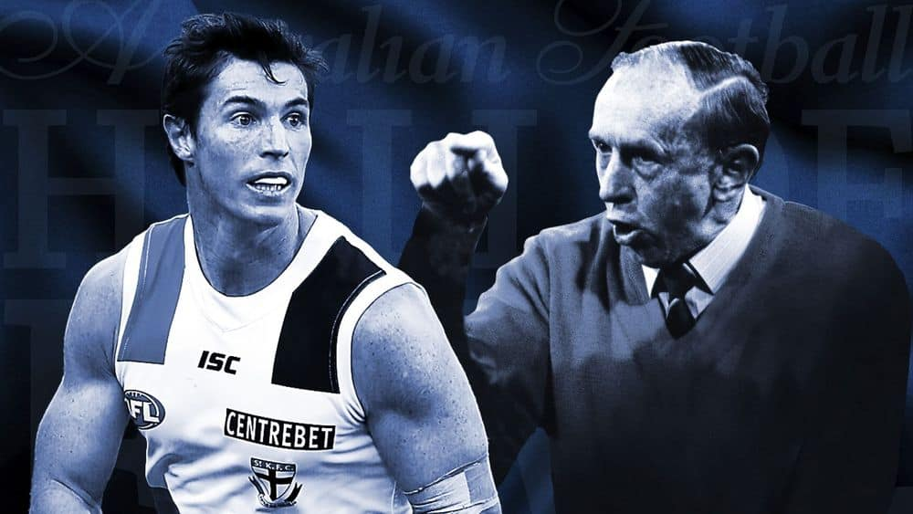 Lenny Hayes and John Kennedy snr have been honoured in Monday's Hall of Fame event. Picture: AFL Media