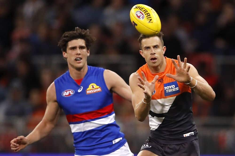Brett Deledio in his final AFL game, the 2019 elimination final against the Western Bulldogs. Picture: AFL Photos