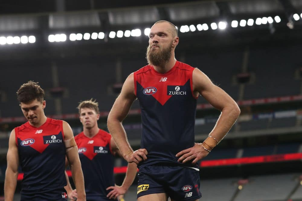 Demons captain Max Gawn stood tall in a forgettable round for Fantasy coaches. Picture: AFL Photos
