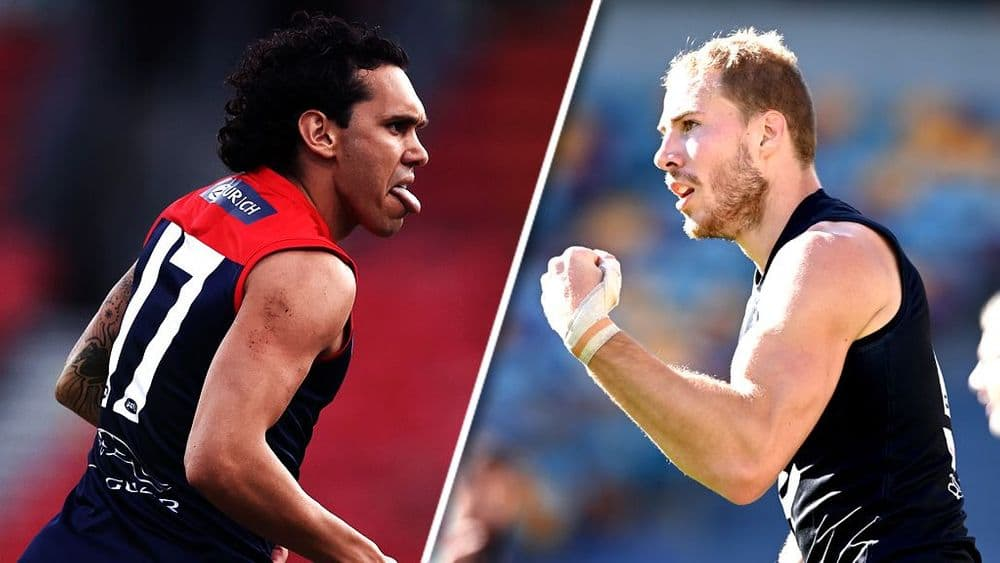 Harley Bennell and Harry McKay are among the outs for Sunday's double header. Picture: AFL Photos