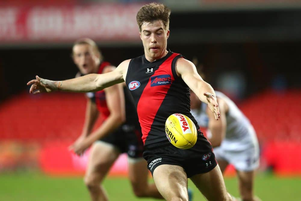 Essendon star Zach Merrett in action against GWS. Picture: Getty Images/AFL Photos