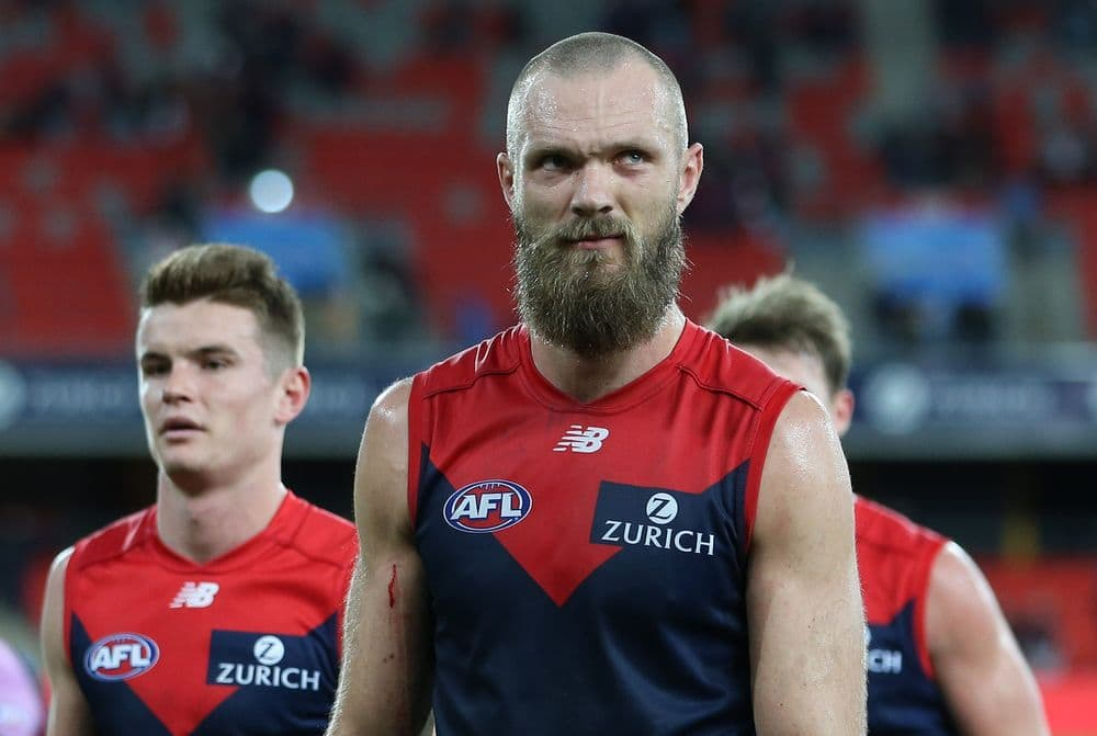Max Gawn will miss Sunday's clash against North Melbourne. Picture: AFL Photos