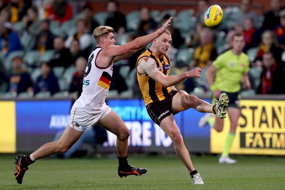 Hawk Tom Mitchell had 20 CBAs against the Crows. Picture: AFL Photos