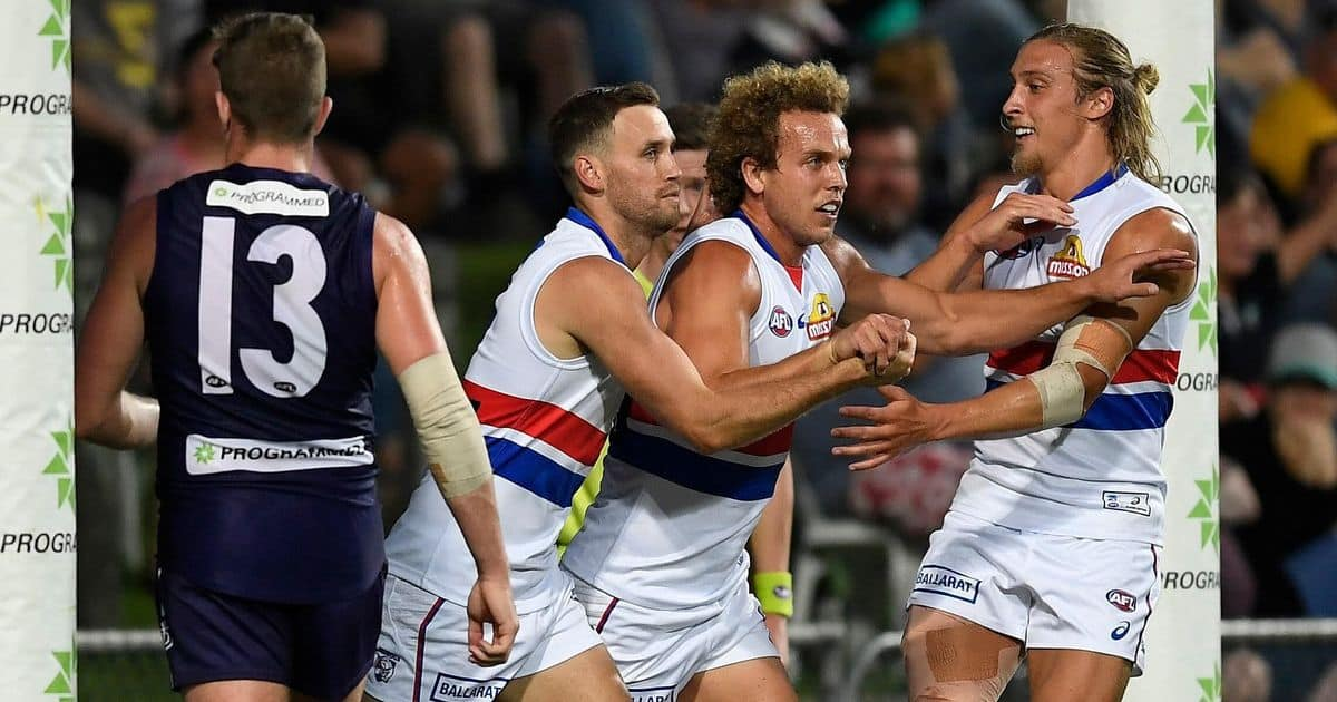 RACE FOR THE FINALS: Dogs end Dees' hopes Power eye top spot – AFL