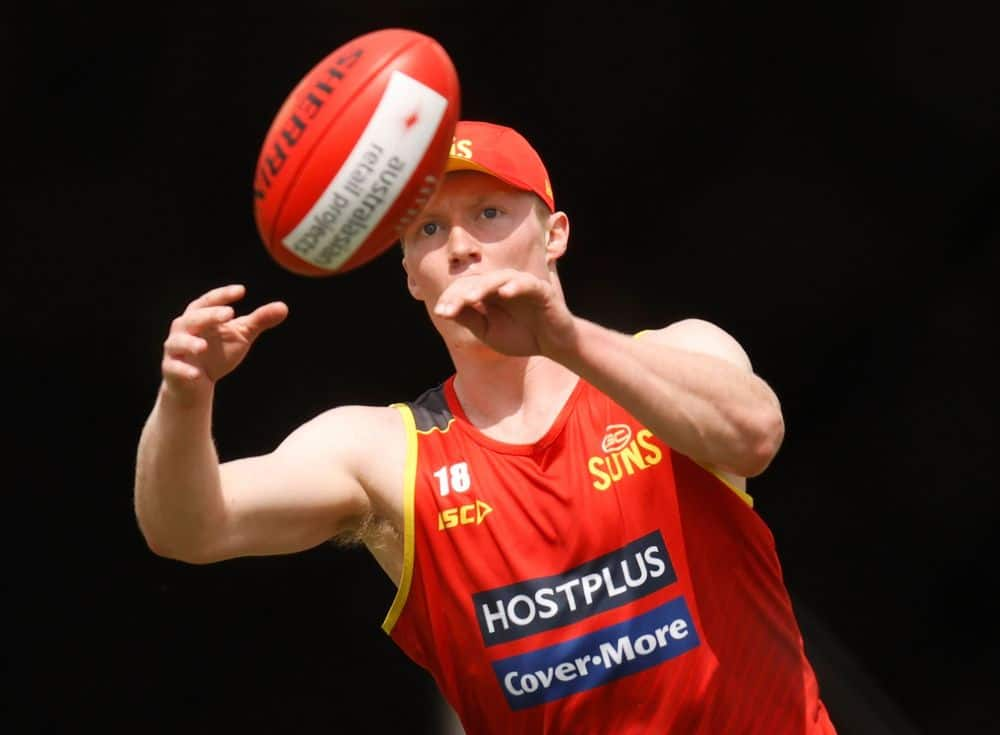Matt Rowell during a training session at the Suns this season. Picture: AFL Photos