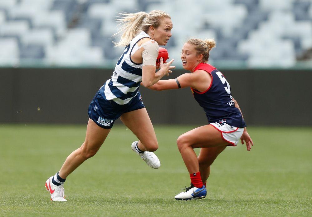 AFLW 2021 Training - Geelong v Melbourne Practice Match