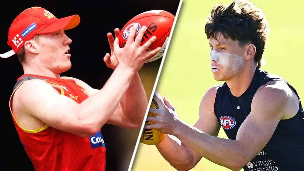 Matt Rowell and Sam Walsh will be hot property in a keeper league draft. Picture: AFL Photos