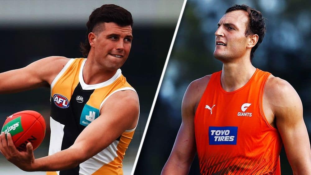 Rowan Marshall and Braydon Preuss have both suffered significant pre-season injuries. Picture: AFL Photos