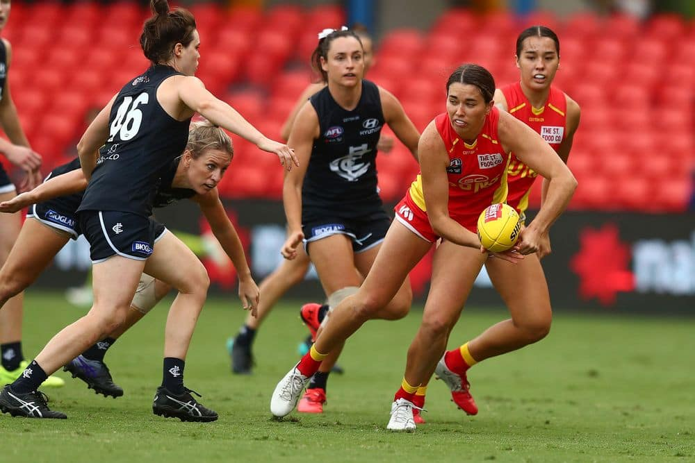 AFLW 2021 Round 08 - Gold Coast v Carlton