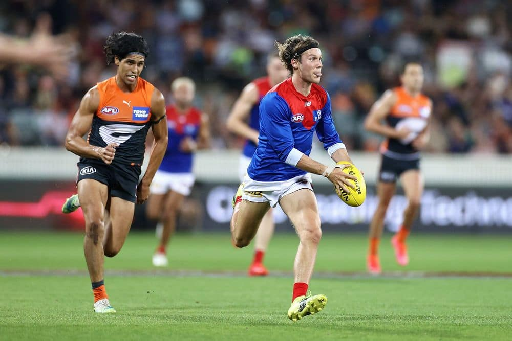 Ed Langdon in action against GWS in round three. Picture: AFL Photos