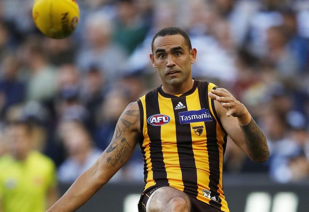 Shaun Burgoyne in action against Geelong in round three, 2021. Picture: AFL Photos