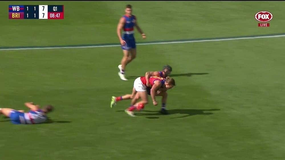Lion crunched in Caleb's big tackle