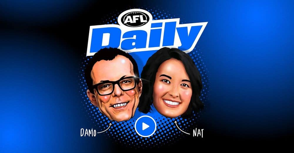 AFL Daily: Join Damian Barrett and Nat Edwards for our new podcast and be FIRST with all the news. Picture: AFL Media