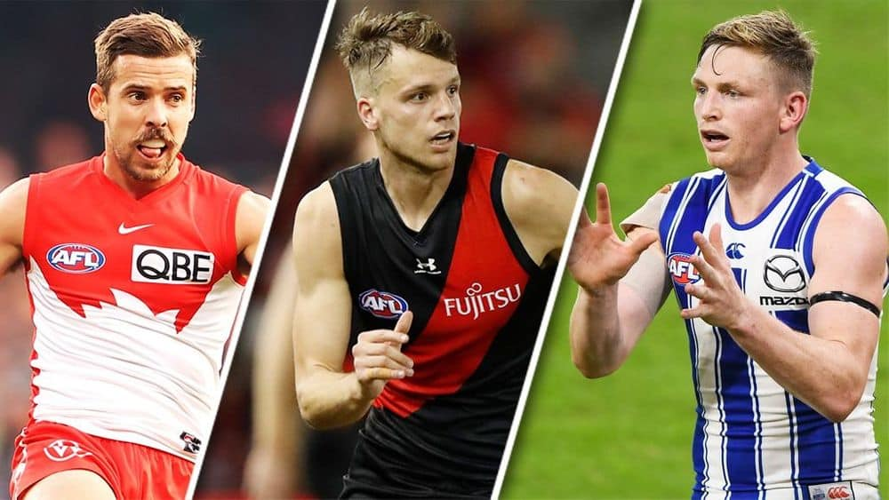 Jake Lloyd, Jordan Ridley and Jack Ziebell. Picture: AFL Photos