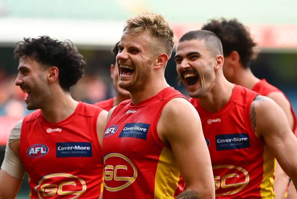 Sun Brandon Ellis had plenty to smile about against the Magpies. Picture: Getty Images