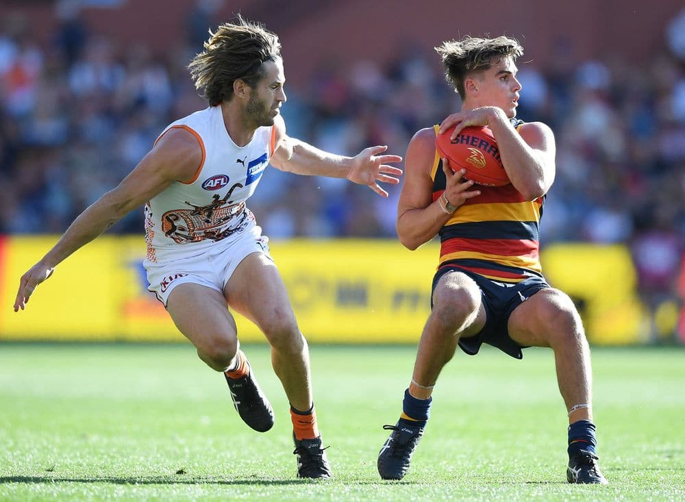 Callan Ward and Ben Keays during the round seven, 2021. Picture: AFL Photos