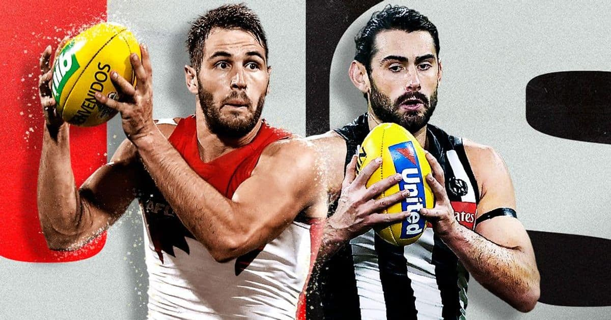 Final teams subs locked in Swans-Pies Hawks-Roos. Follow them LIVE – AFL