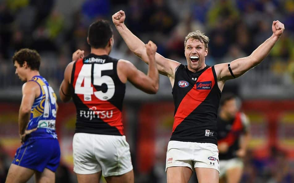 Essendon Bombers jump into top eight after crashing West Coast Eagles' nest