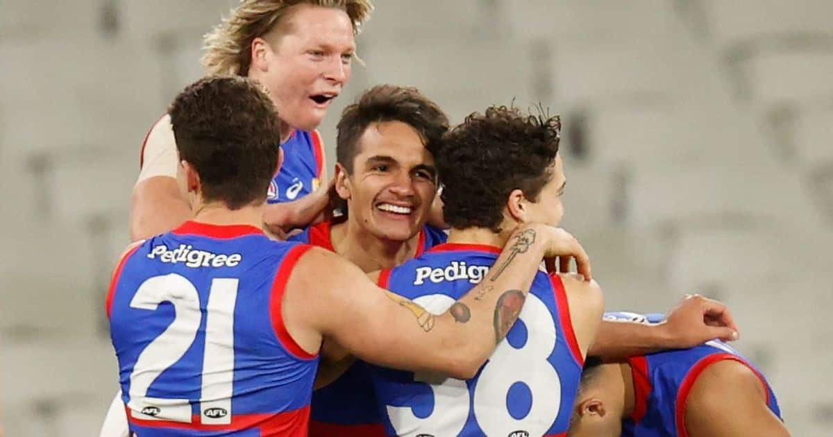 Back on top: Dogs make a statement in gripping fight with Dees – AFL