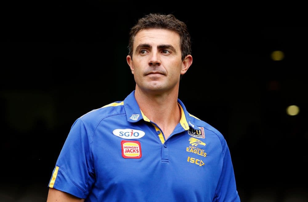 Jaymie Graham when he was stand-in West Coast coach in round two, 2018. Picture: AFL Photos