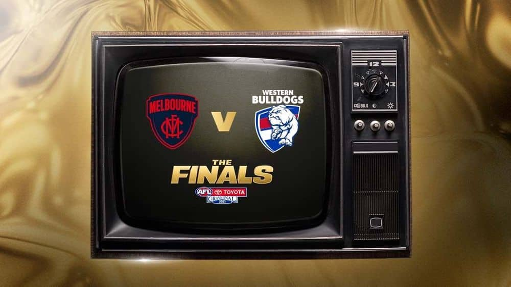 Melbourne and Western Bulldogs will meet in the 2021 Toyota AFL Grand Final. Picture: AFL Media