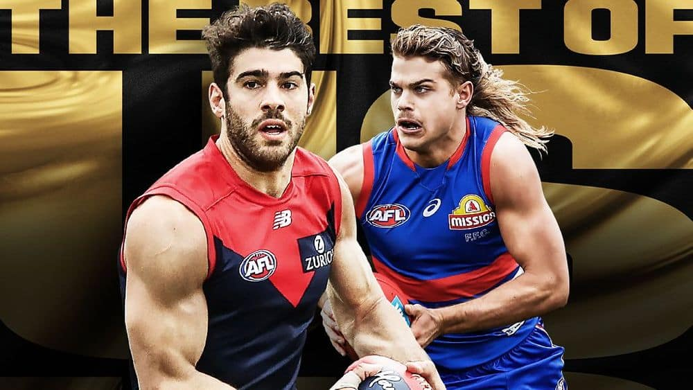 Melbourne and the Western Bulldogs do battle in the 2021 Toyota AFL Grand Final at Optus Stadium on Saturday night. Picture: AFL Media