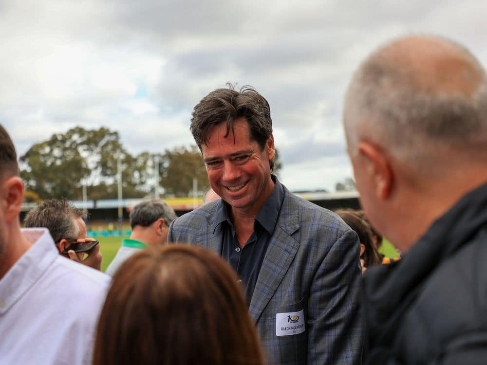 AFL CEO Gillon McLachlan at the Perth Football League Grand Final on September 18. 2021. Picture: Tamati Smith, Yama(t)ji/AFL Photos